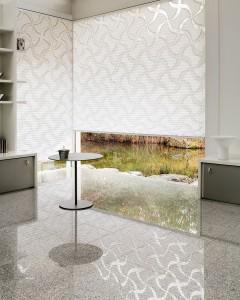 Beispiel eines modernen Plissee Vorhangs. (Foto: Firma MHZ)